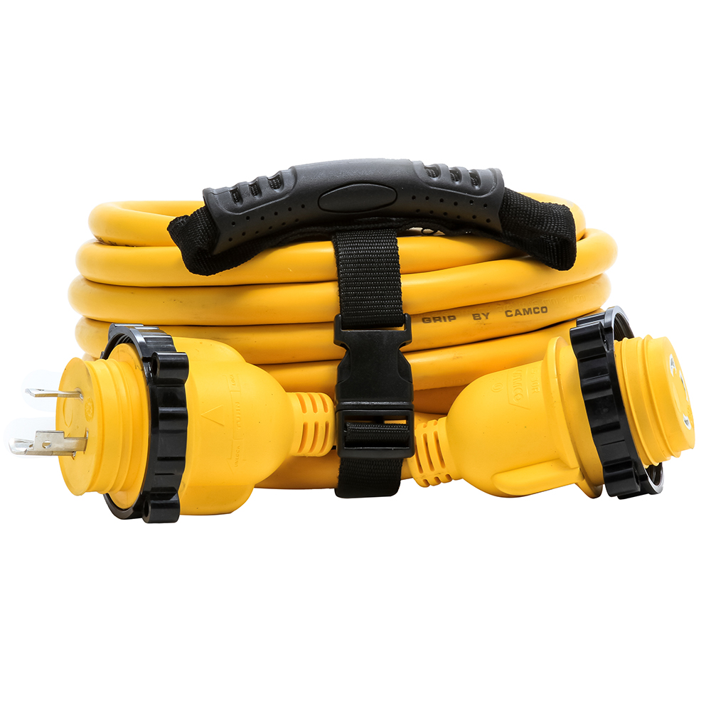 Camco 30 Amp Power Grip Marine Extension Cord 25 M Locking F Locking Adapter 55611 Anchor Express