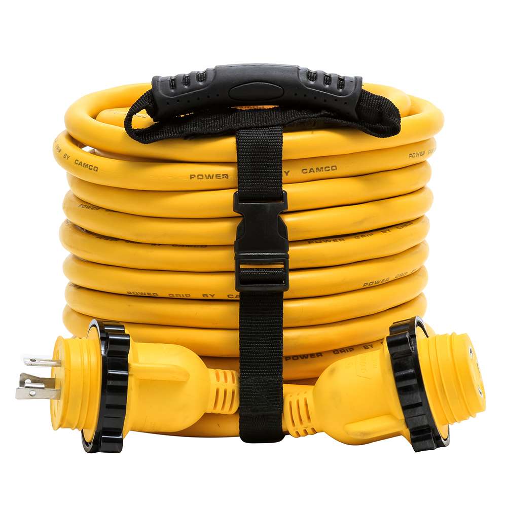 Camco 30 Amp Power Grip Marine Extension Cord 50 M Locking F Locking Adapter 55613 Anchor Express