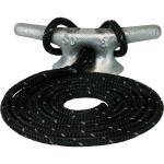 Sea-Dog Double Braided Nylon Dock Line - 1/2 inch x 10' - Black w/Tracer - 302112010BKT-1