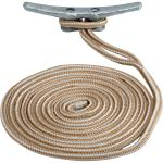Sea-Dog Double Braided Nylon Dock Line - 1/2 inch x 15' - Gold/White - 302112015G/W-1