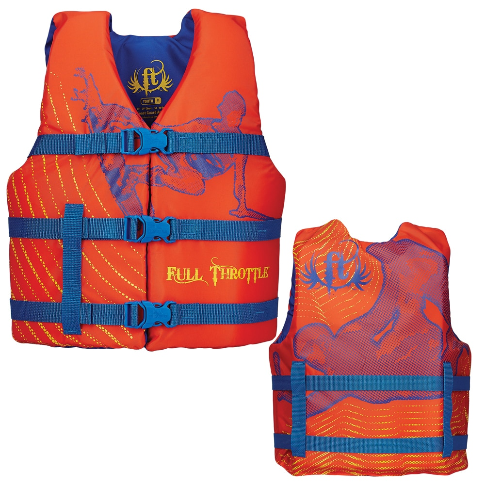 Full Throttle Character Life Vest - Youth 50-90lbs - Orange - 104200-200-002-15