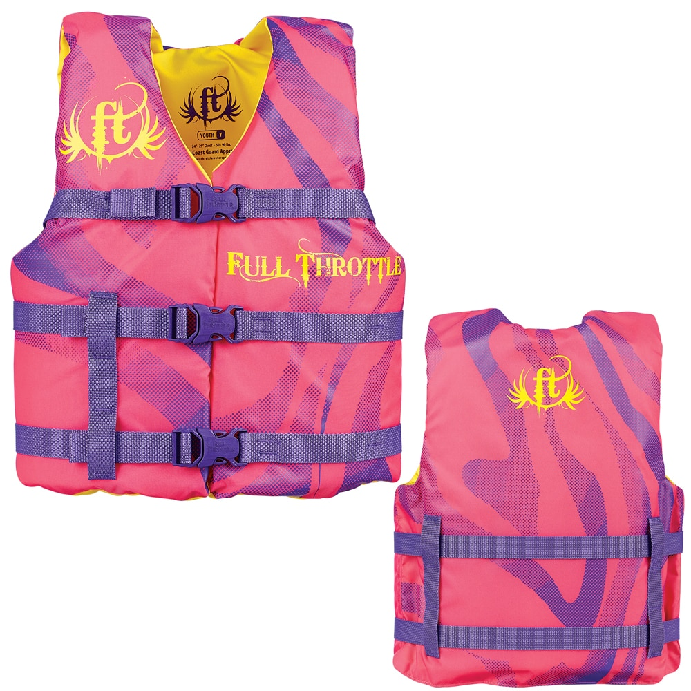 Full Throttle Character Life Vest - Youth 50-90lbs - Pink - 104200-105-002-15