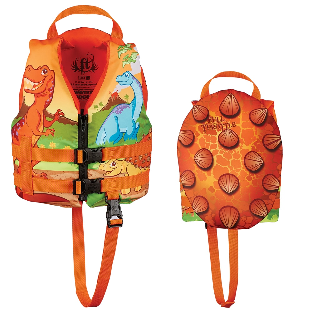 Full Throttle Water Buddies Life Vest - Child 30-50lbs - Dinosaurs - 104300-200-001-15