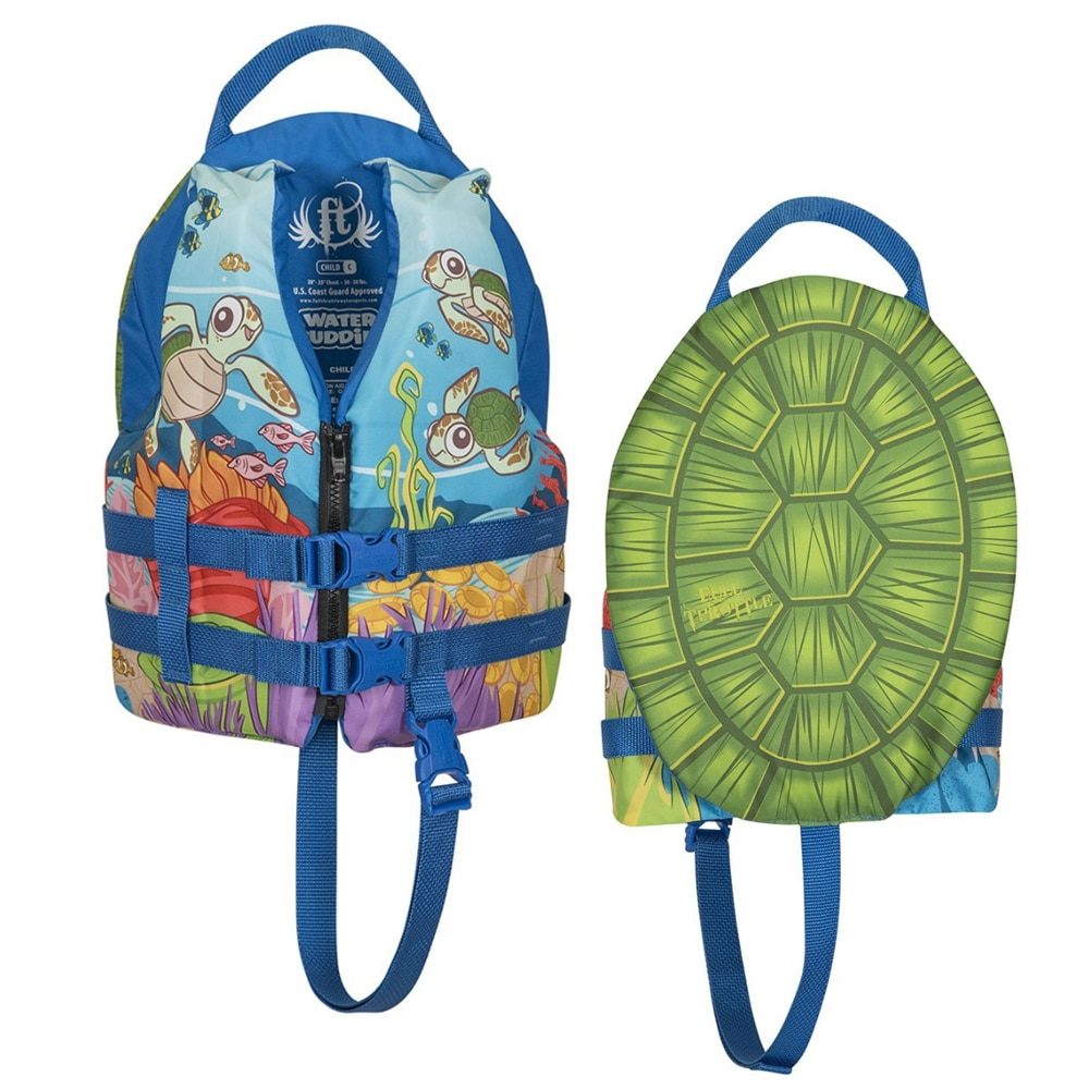 Full Throttle Water Buddies Vest - Child 30-50lbs - Turtle - 104300-500-001-17