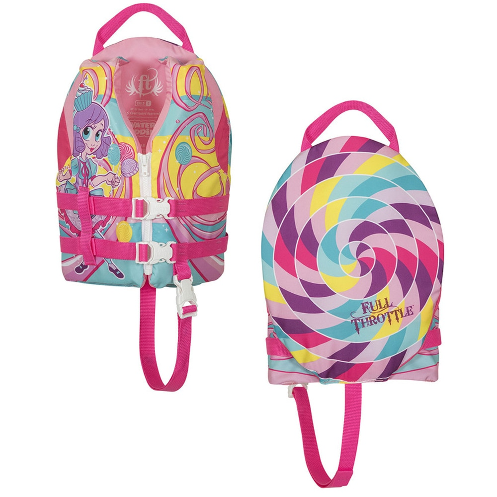 Full Throttle Water Buddies Life Vest - Child 30-50lbs - Princess - 104300-105-001-17