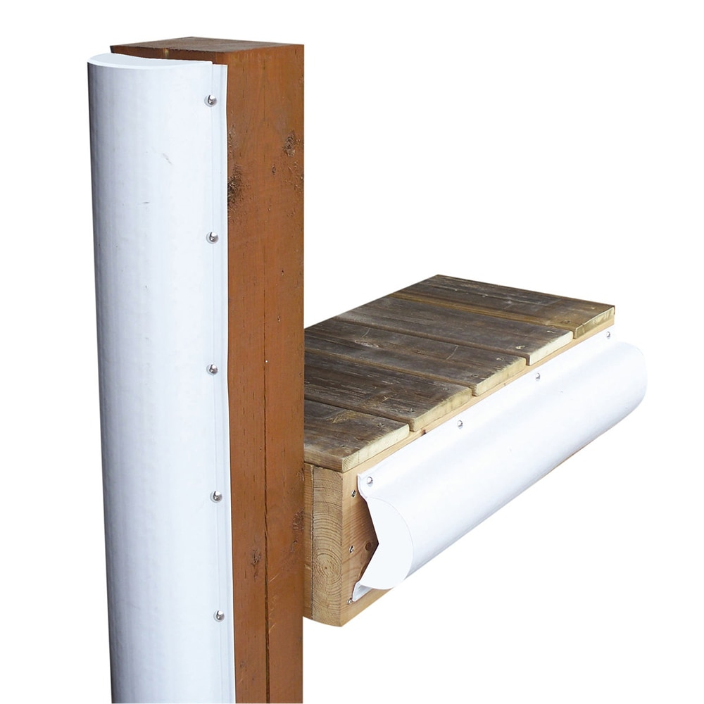 Dock Edge Piling Bumper - One End Capped - 6' - White - 1020-F