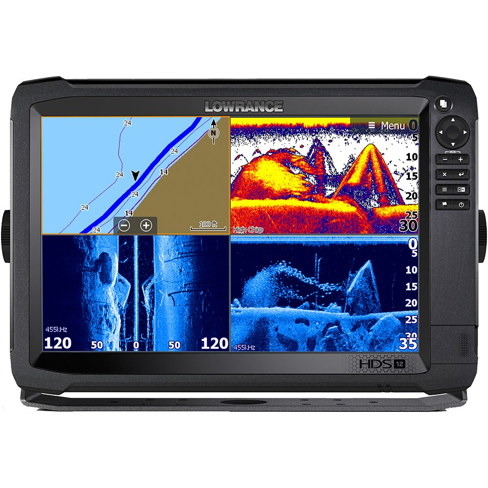 Lowrance HDS-12 Carbon Multifunction Display with C-map Insight No Transducer - 000-13686-001