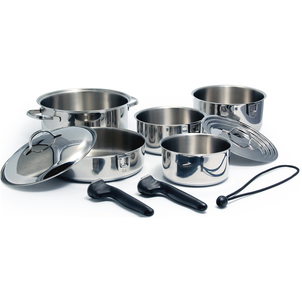 Kuuma 10-Piece Stainless Steel Nesting Cookware Set - Induction Compatible - Oven Safe - 58371