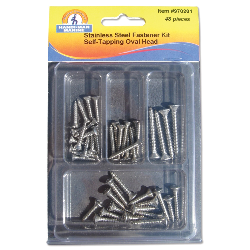Handi-Man Phillips Oval Head Self Tapping Screw Kit - 48 Pieces - 970201