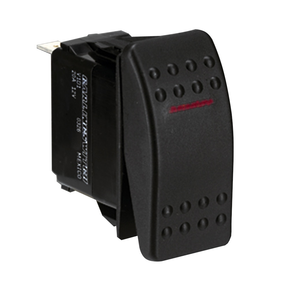 Paneltronics Switch SPST Black On/Off Rocker - 001-675