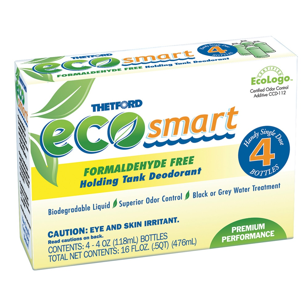 Thetford Eco-Smart Holding Tank Deodorant - Formaldehyde Free Formula - 4 oz. 4-Pack -  36974