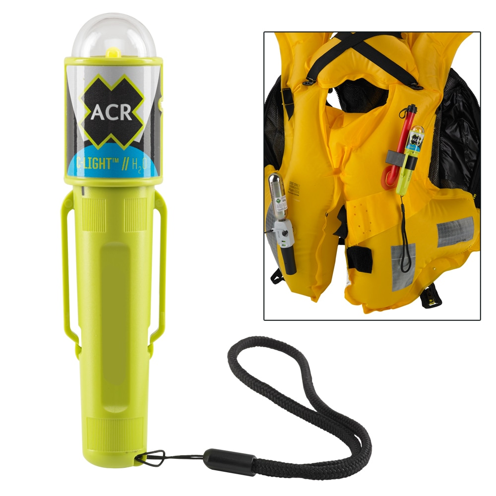 ACR C-Light H20 - Water Activated LED PFD Vest Light with Clip - 3962.1