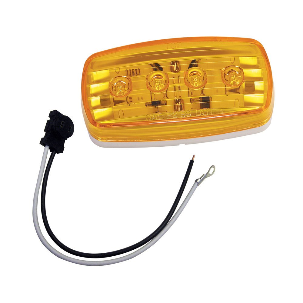 Wesbar LED Clearance/Side Marker Light - Amber #58 w/Pigtail - 401585KIT