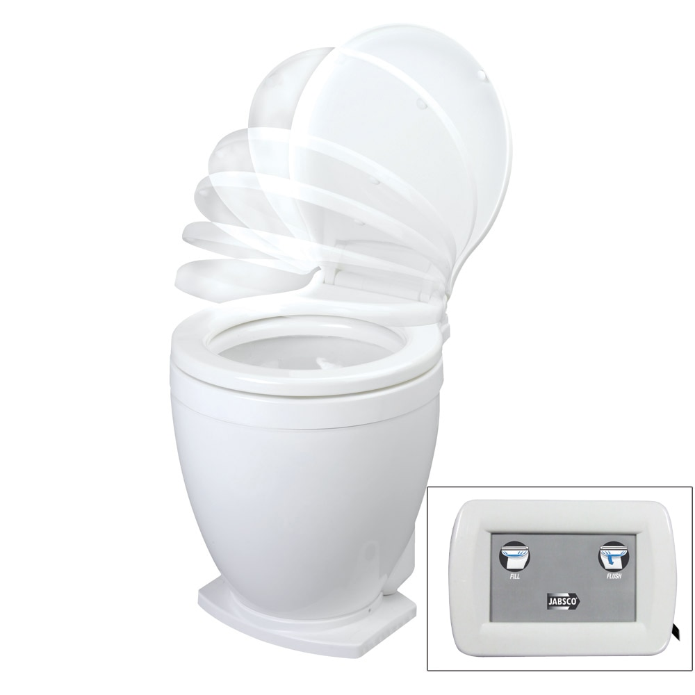 Jabsco Lite Flush Electric Toilet 12v With Control Panel