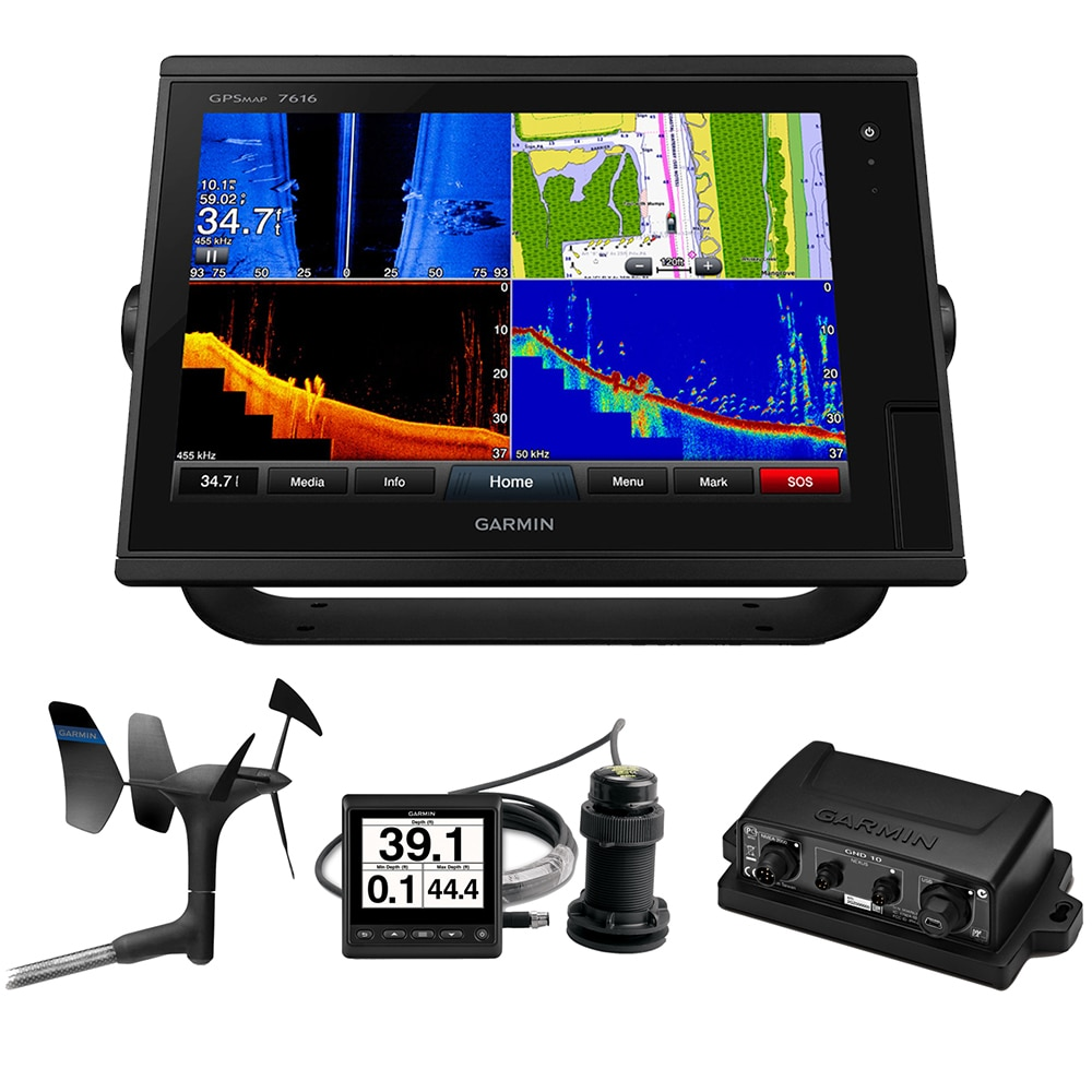 Garmin GPSMAP 7616 Sail Pack with Wind, Depth & Speed Bundle - 010-01402-11SP