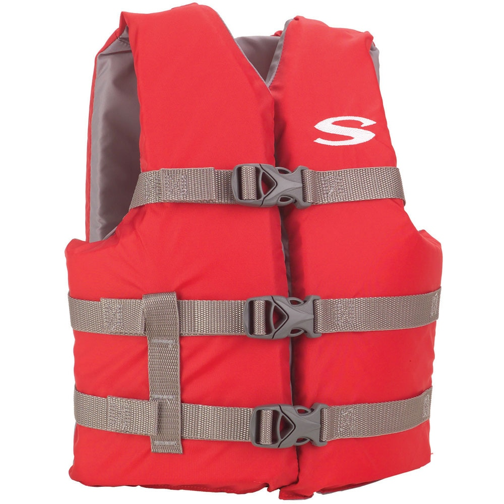 Stearns Classic Youth Life Jacket - 50-90lbs - Red/Grey - 3000004472
