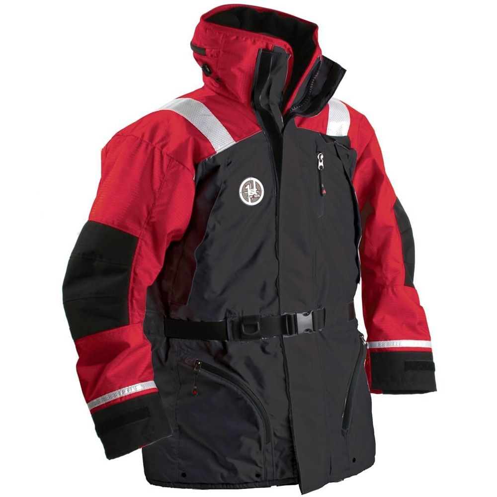 First Watch AC-1100 Flotation Coat - Red/Black - Large - AC-1100-RB-L