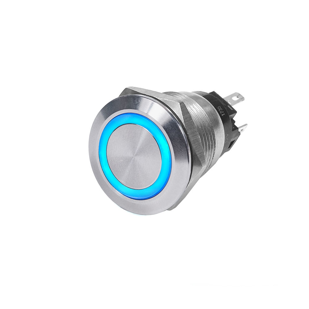 Blue Sea 4160 SS Push Button Switch - Off-On - Blue - 10A - 4160