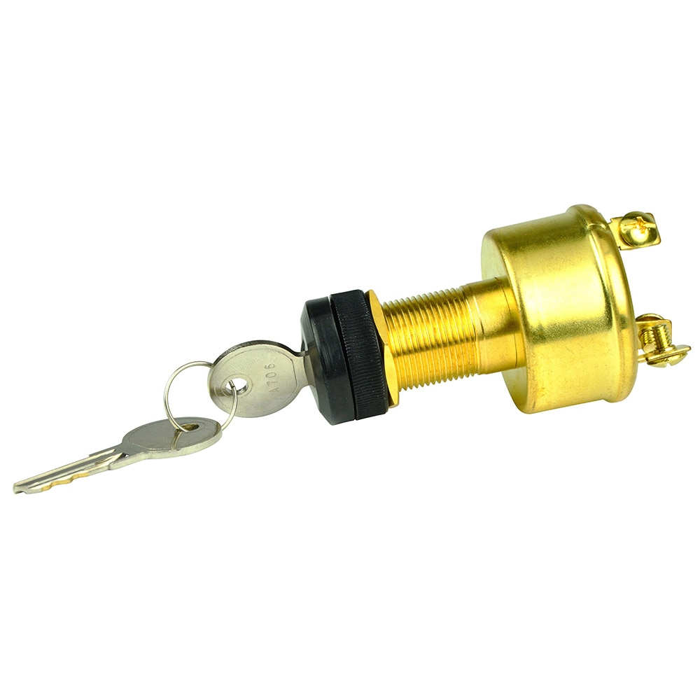 BEP 3-Position Brass Ignition Switch - OFF/Ignition/Start - 1001606