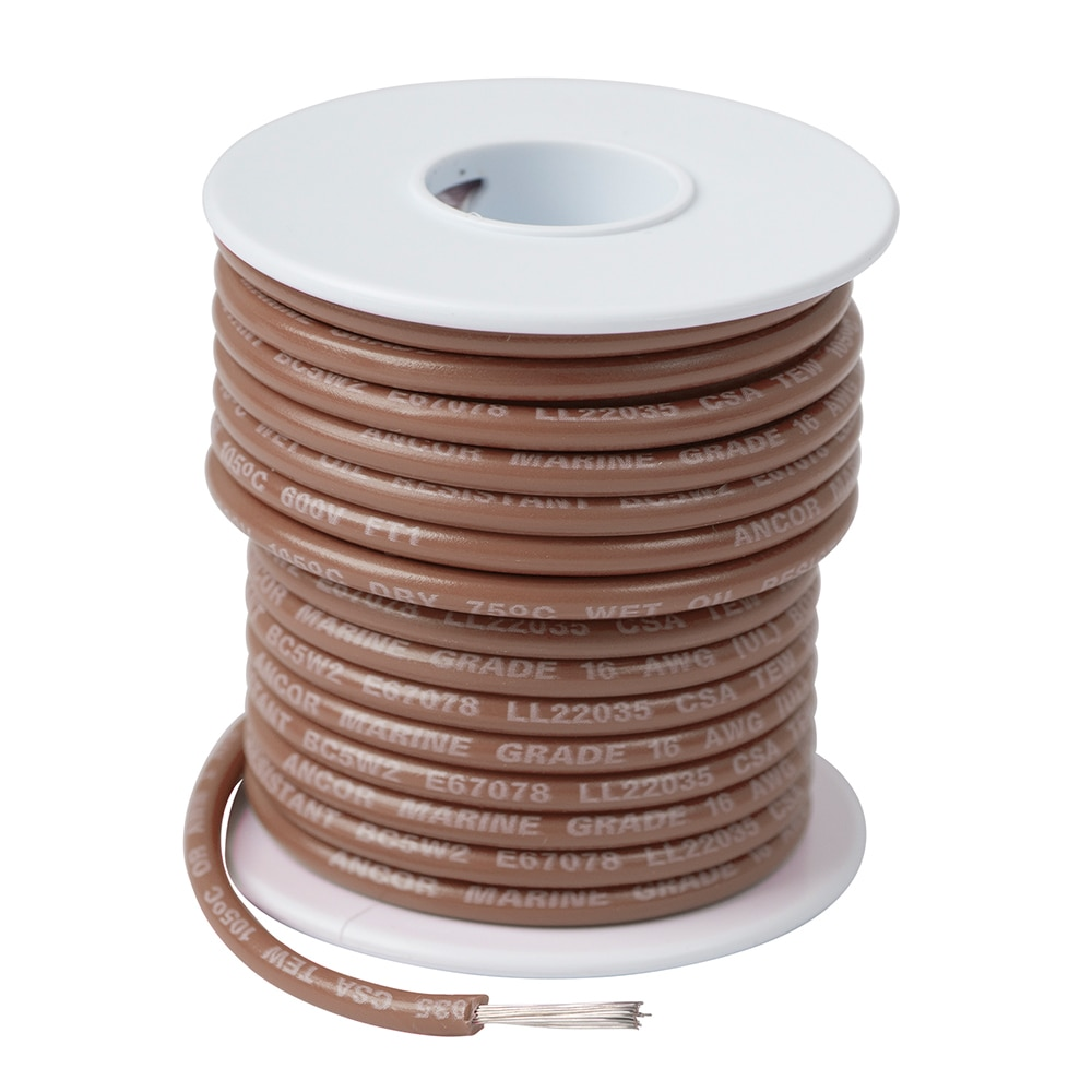 Ancor Tan 16 AWG Tinned Copper Wire - 250' - 101825