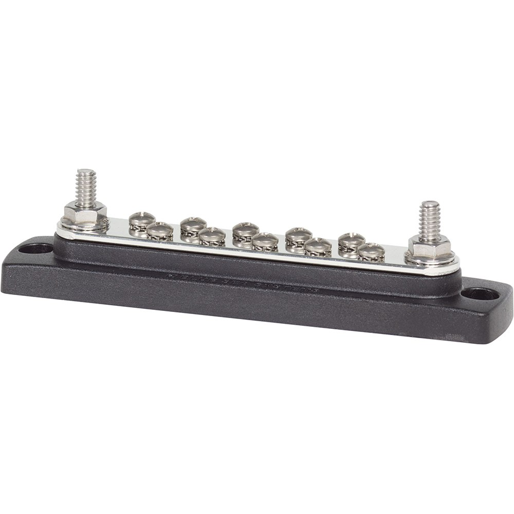 Blue Sea 2301 150 Ampere Common BusBar 10 x #8-32 Screw Terminal