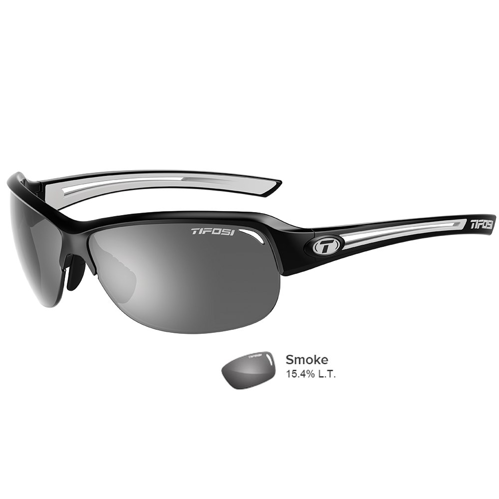 d0fdf8d4b76 Tifosi Mira Black White Single Lens Sunglasses - Smoke - 1380406470
