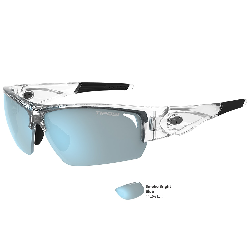 Tifosi Lore SL Crystal Clear Single Lens Sunglasses - Smoke Bright Blue - 1390405381