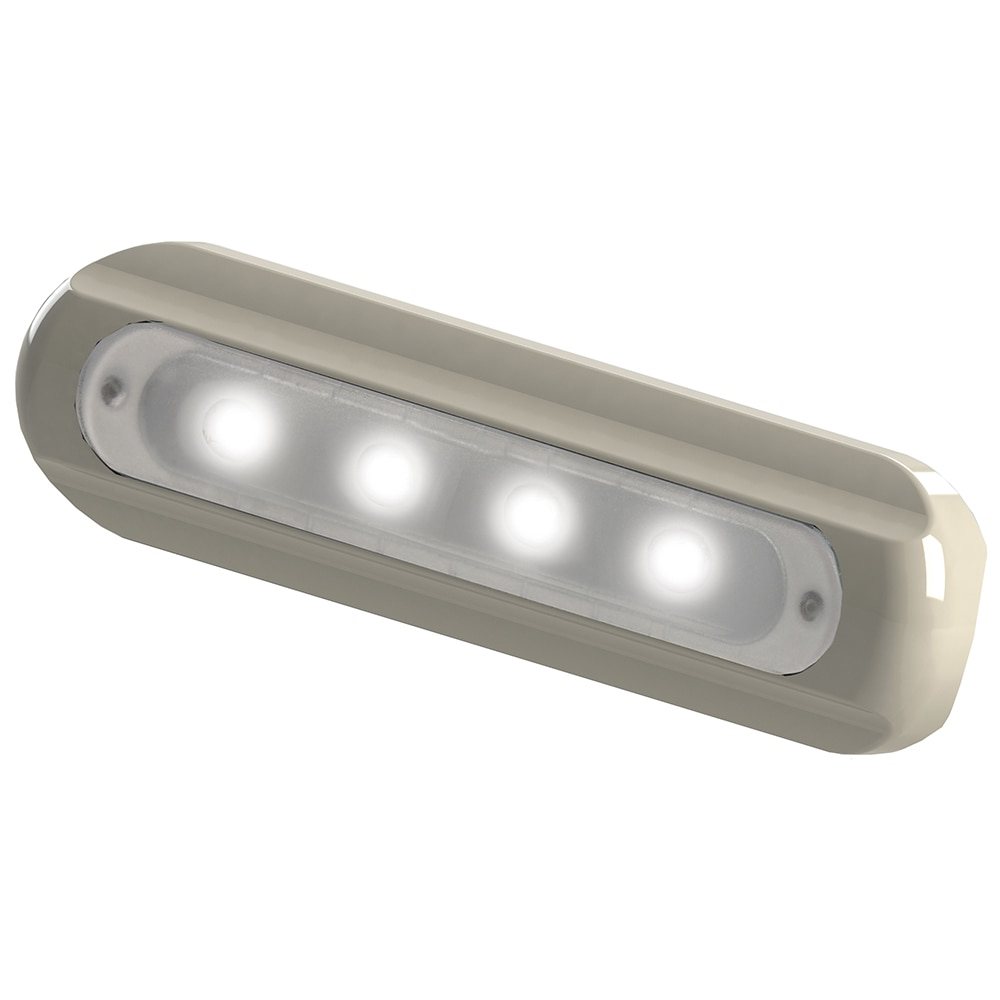 TACO 4-LED Deck Light - Flat Mount - White Housing - F38-8800W-1