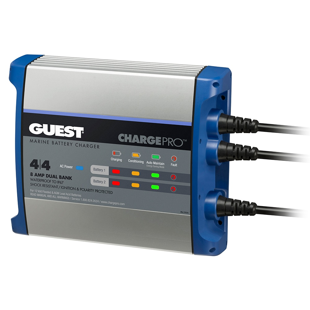 Guest On-Board Battery Charger 8A / 12V - 2 Bank - 120V Input - 2707A
