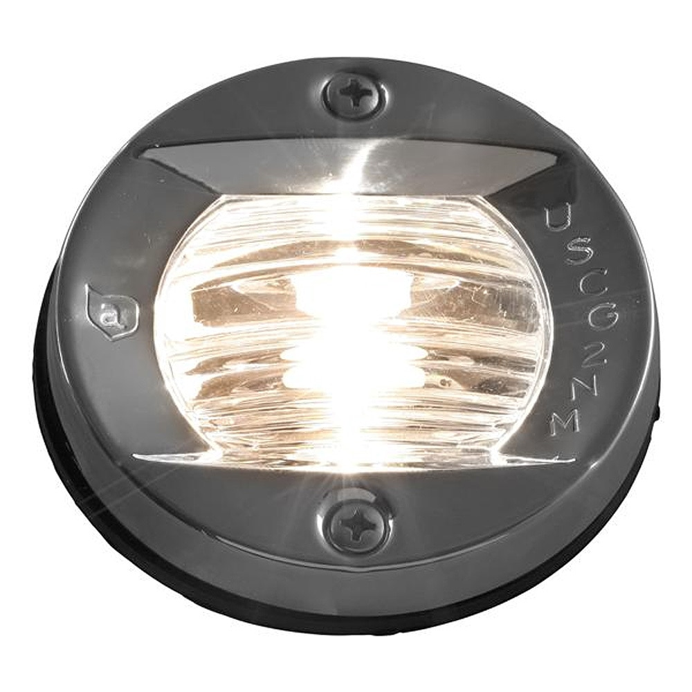Attwood Vertical, Flush Mount Transom Light - Round - 6356D7