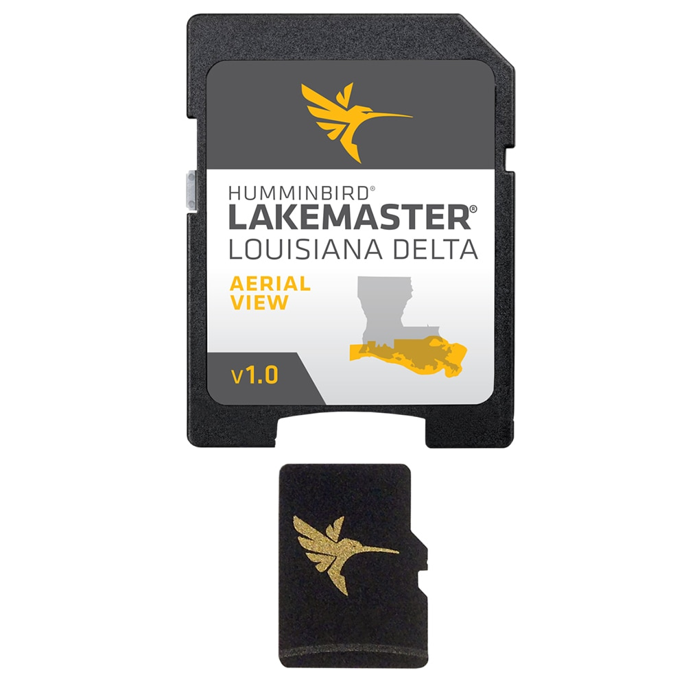 Humminbird LakeMaster Aerial Satellite View - Louisiana Delta - 600050-1