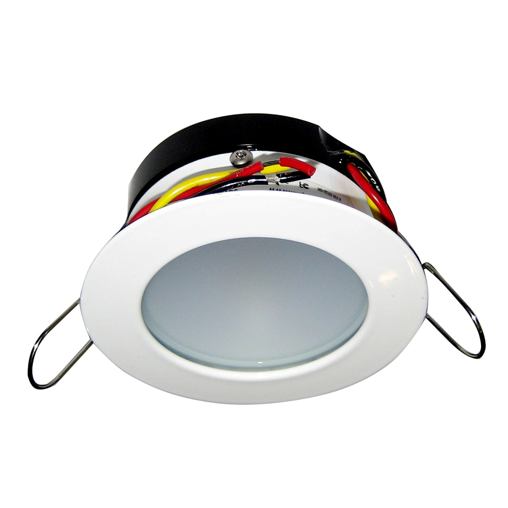 i2Systems Apeiron Pro A503 Tri-Color 3W Round Dimming Light - Warm White/Red/Blue - White Finish - A503-31CBBR-HE