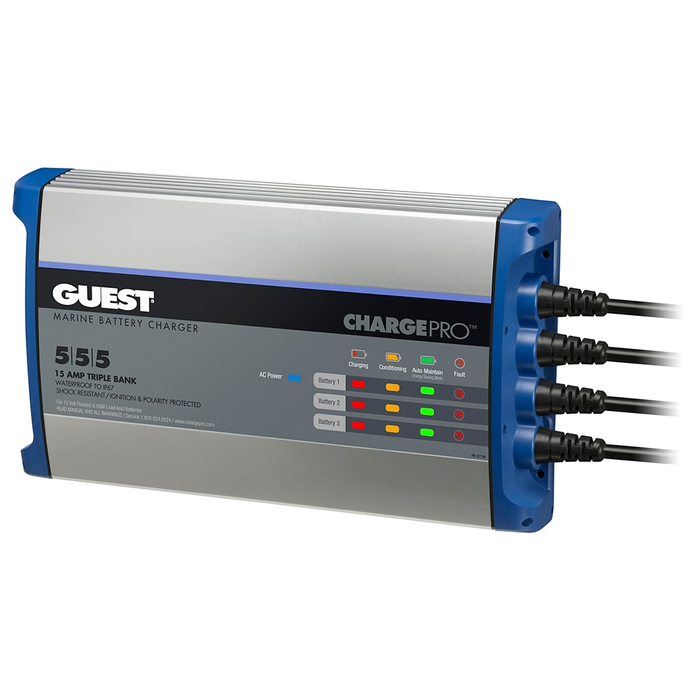 Guest On-Board Battery Charger 15A / 12V - 3 Bank - 120V Input - 2713A
