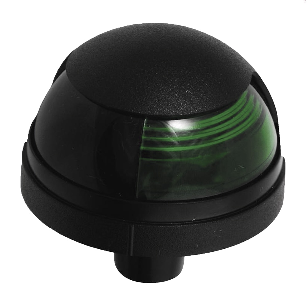 Attwood Pulsar™ 1-Mile Deck Mount, Green Sidelight - 12V - Black Housing - 5040G7