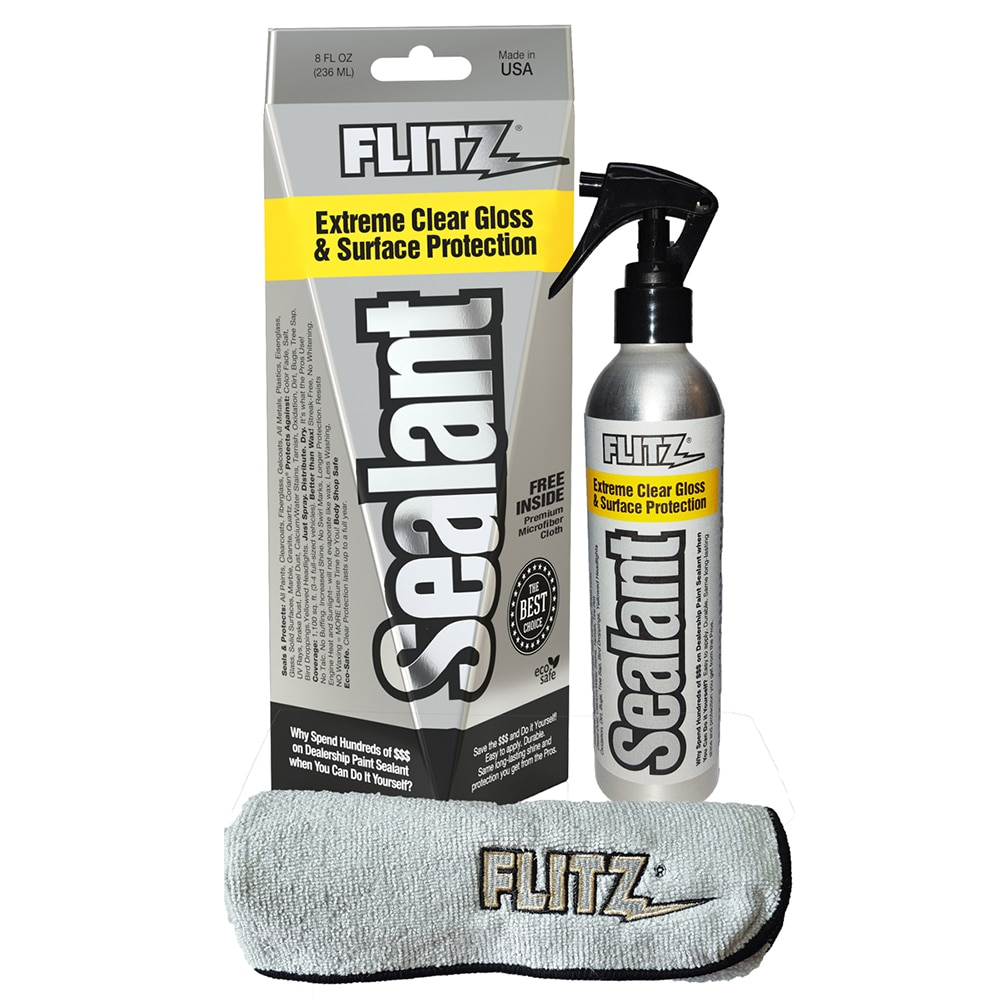 Flitz Sealant Spray Bottle  with Microfiber Polishing Cloth - 236ml/8oz - CS 02908
