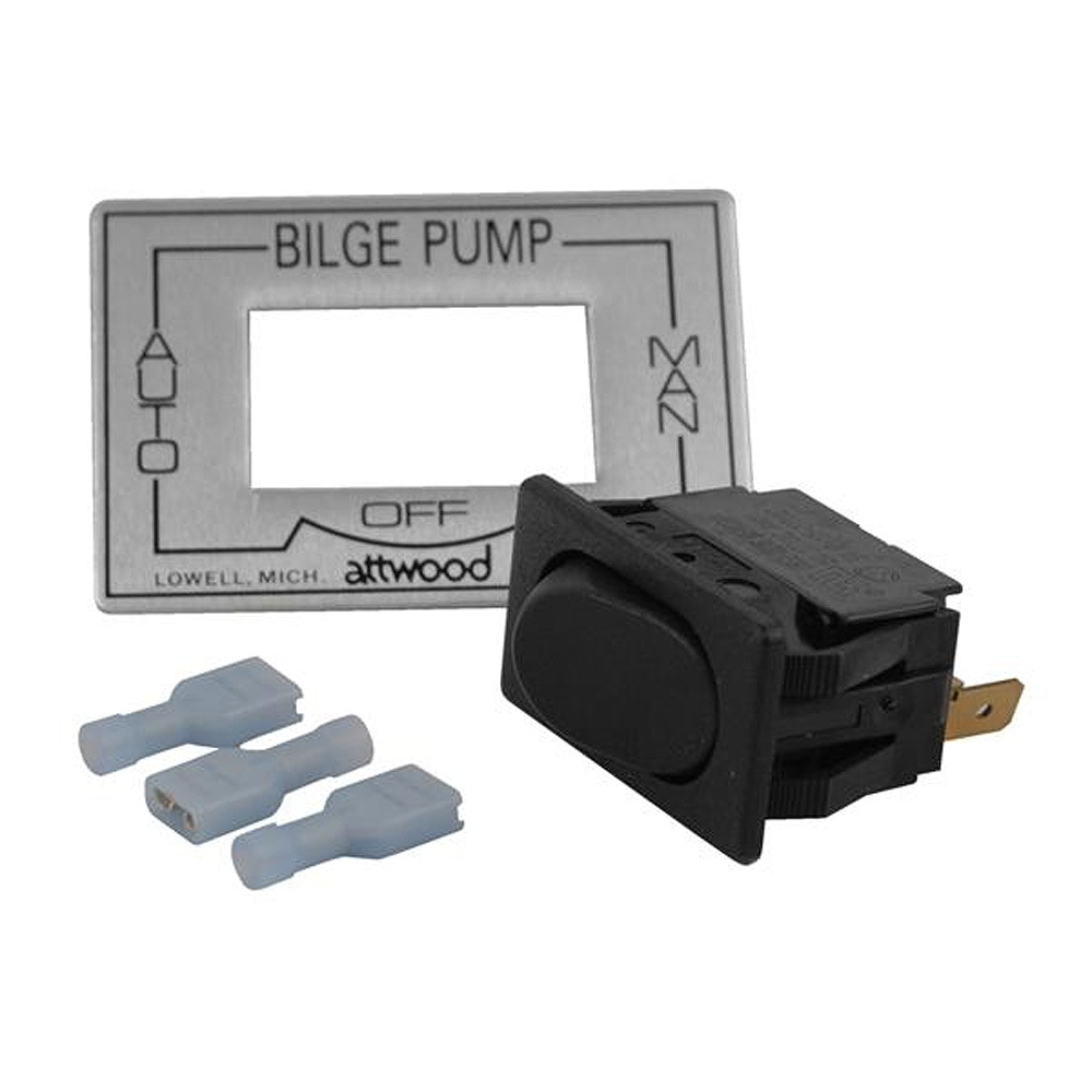 Attwood 3-Way Auto/Off/Manual Bilge Pump Switch - 7615A3