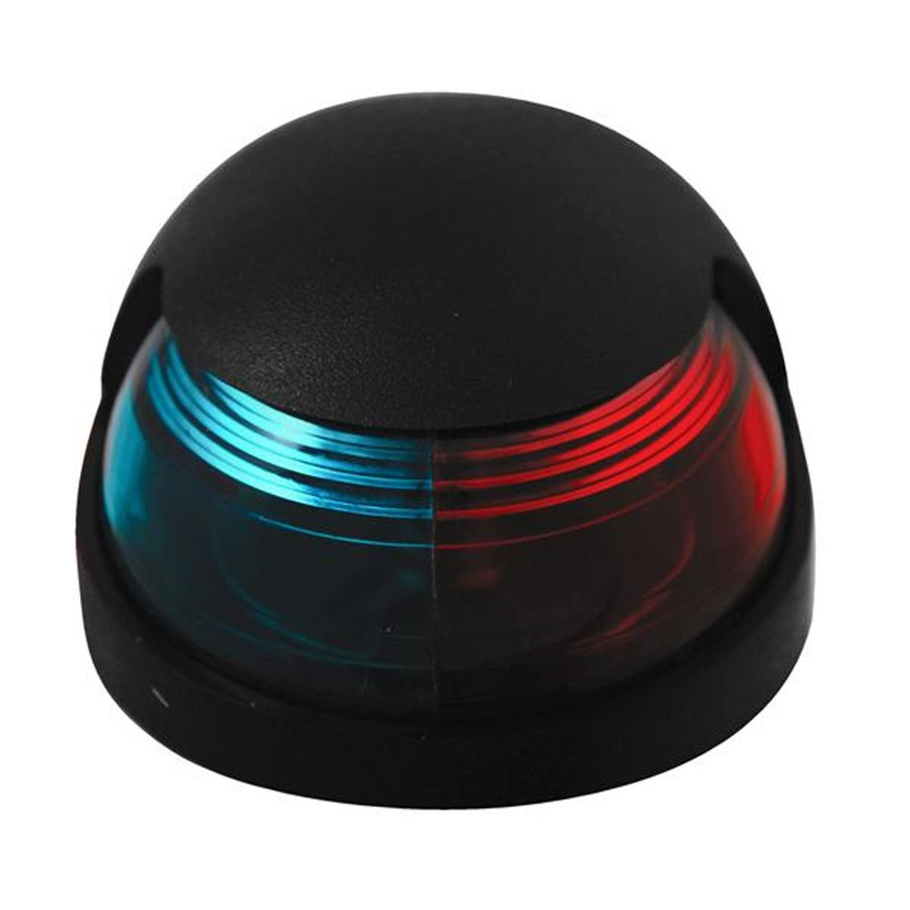 Attwood Quasar™ 2-Mile Deck Mount, Bi-Color Red/Green Combo Sidelight - 12V - Black Housing - 3120-7