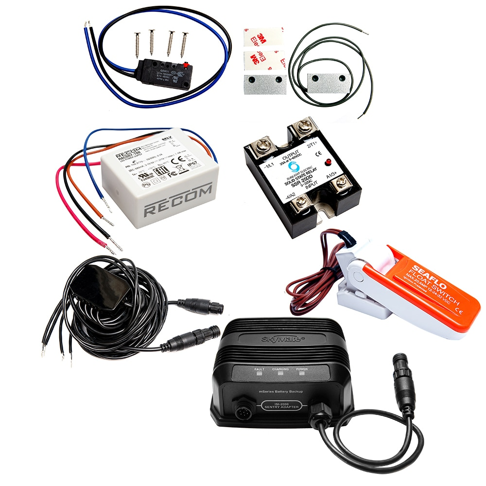 mazu M25 Sentry Kit Includes Sentry Adapter Cable, Float Switch, Magnetic Contacts, Backup Battery, Sensors & Actuator - NA28351