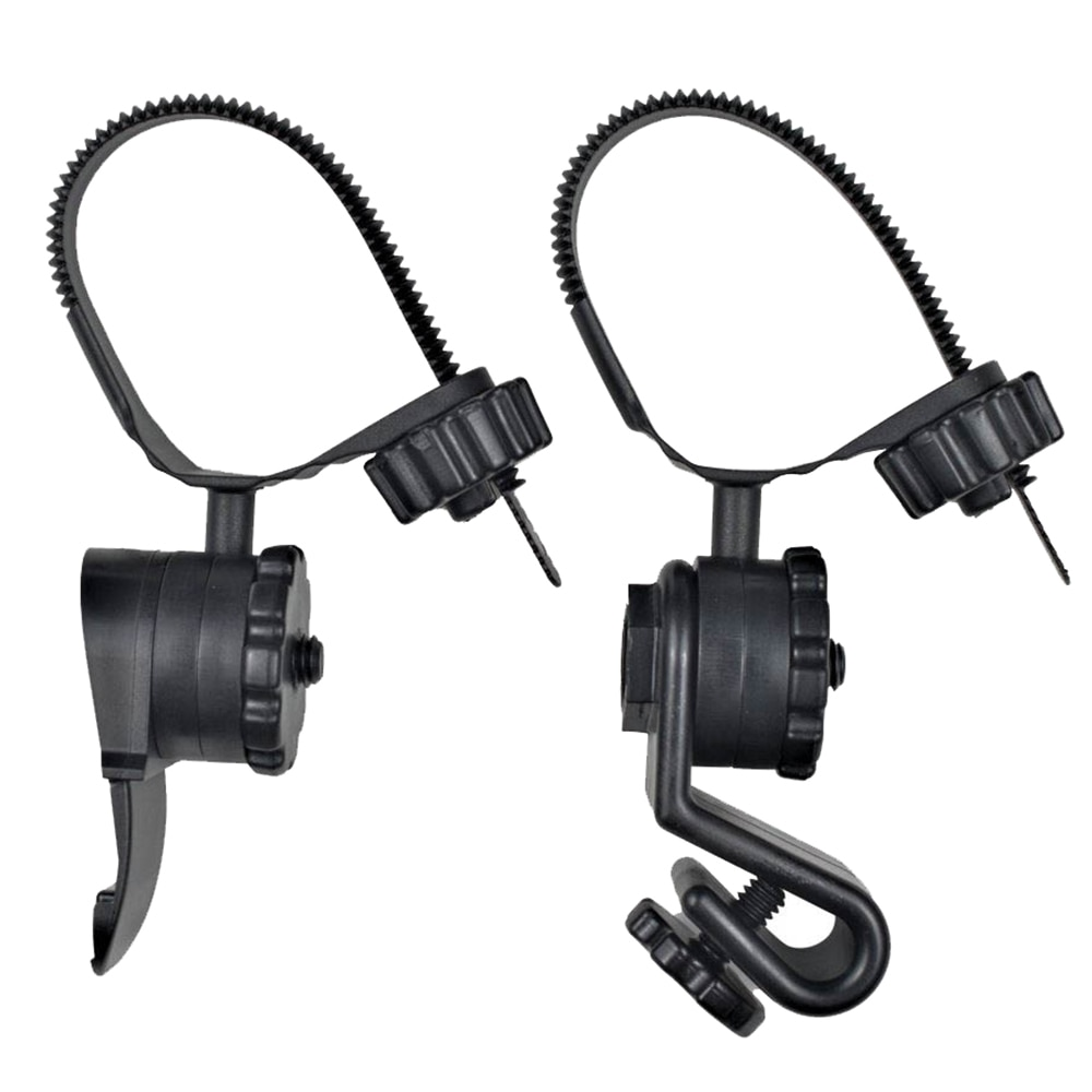 Princeton Tec Hard Hat Light Mounts - Black - HEL-KIT