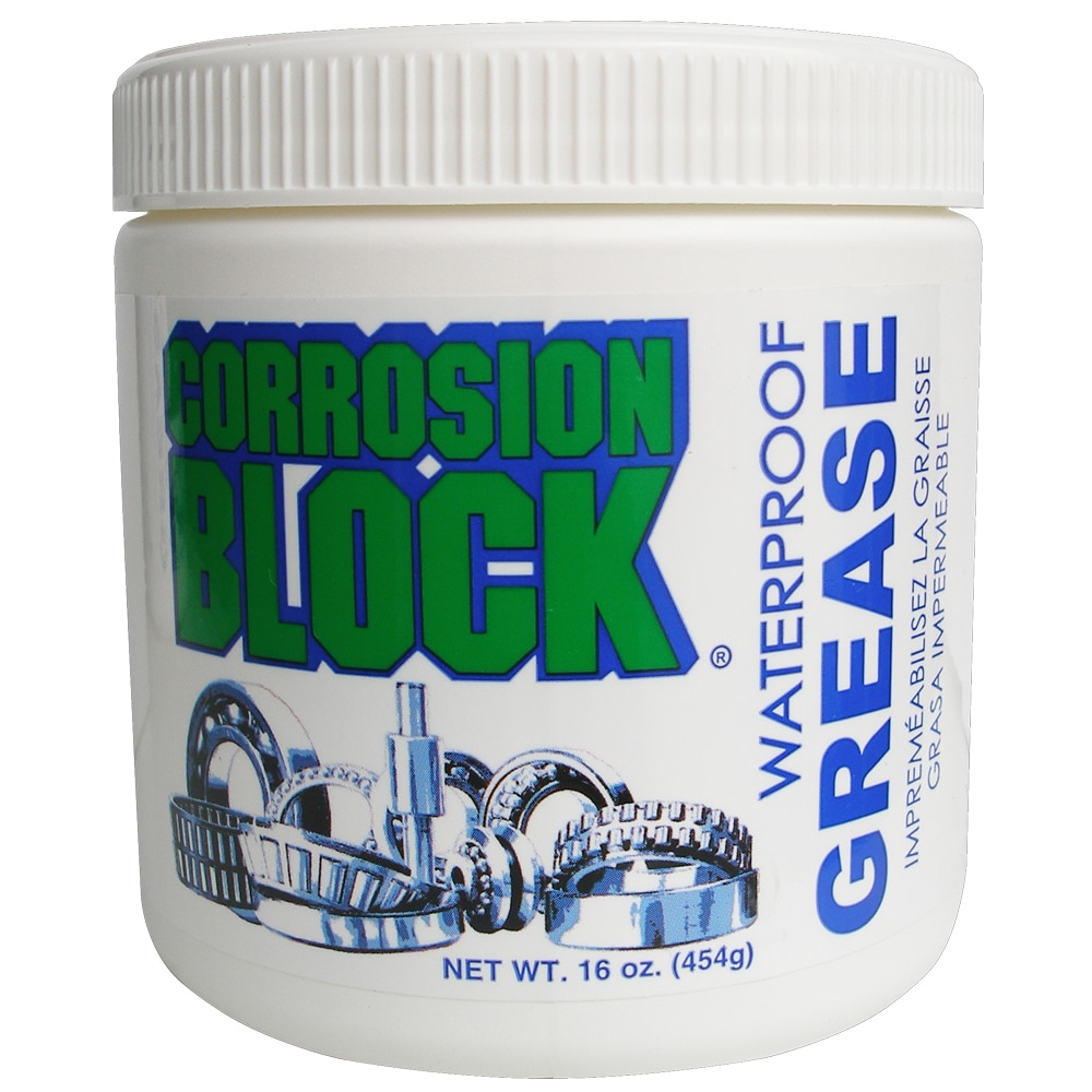 Corrosion Block High Performance Waterproof Grease - 16oz Tub - Non-Hazmat, Non-Flammable  Non-Toxic - 25016