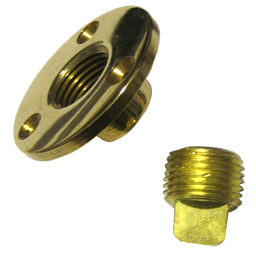 Perko Garboard Drain Plug Assy Cast Bronze/Brass MADE IN THE USA - 0714DP1PLB