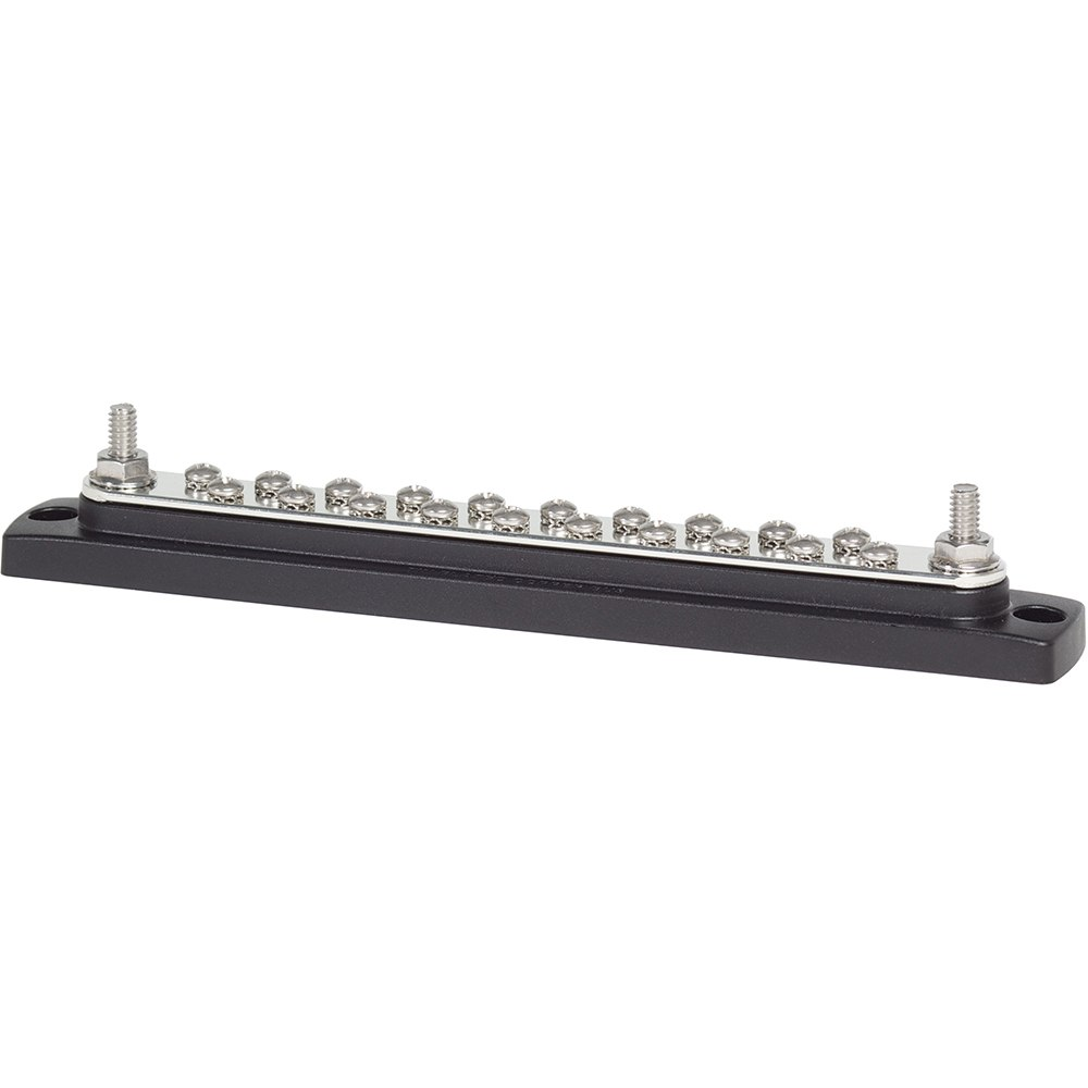 Blue Sea 2302, 150 Ampere Common BusBar 20 x 8-32 Screw Terminal