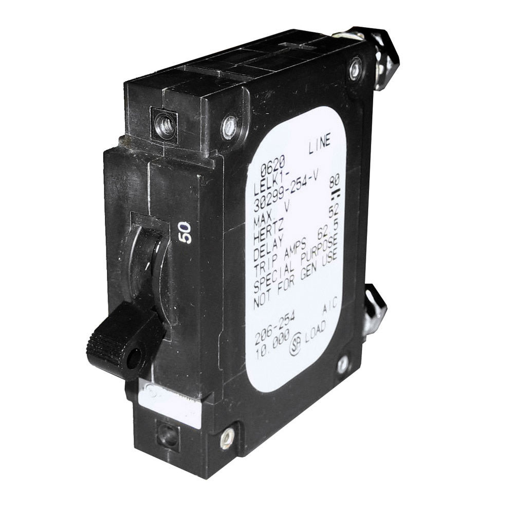 Paneltronics 'C' Frame Magnetic Circuit Breaker - CE - 50 Amp - Single Pole - 206-254