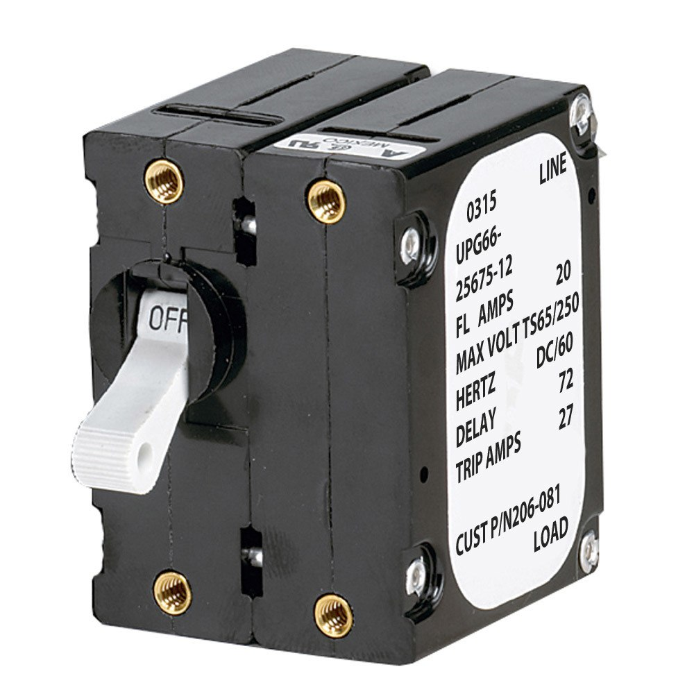 Paneltronics 'A' Frame Magnetic Circuit Breaker - 25 Amps - Double Pole - 206-082S