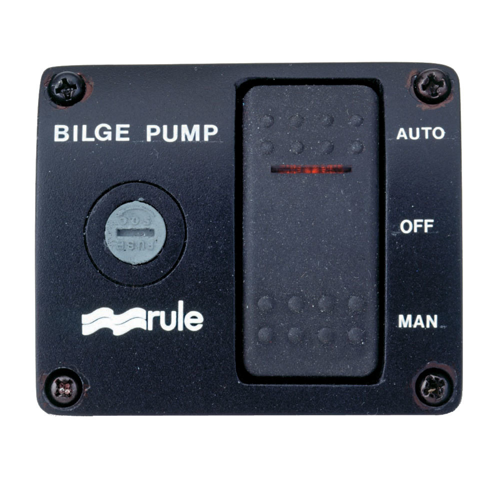 Rule 43 Deluxe 3-Way Lighted Rocker Panel Switch
