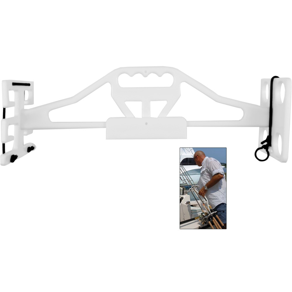 TACO Rod & Reel Tote 'Em Rack w/Wall Mount - P03-144W
