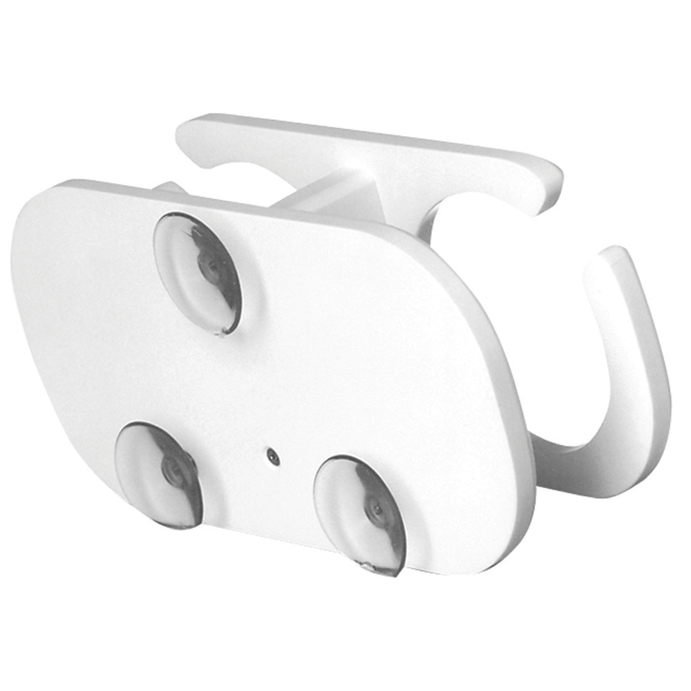 TACO 2-Drink Poly Cup Holder w/Suction Cup Mounts - White - P01-2001W
