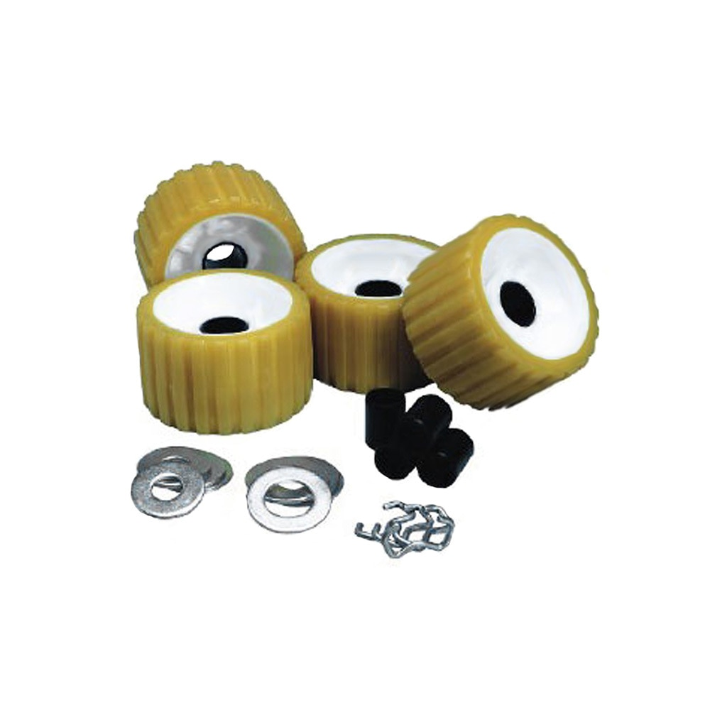C.E. Smith Ribbed Roller Replacement Kit - 4 Pack - Gold - 29310