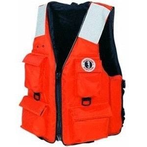 Mustang 4-Pocket Flotation Vest:  Small - MV3128T2-S-OR