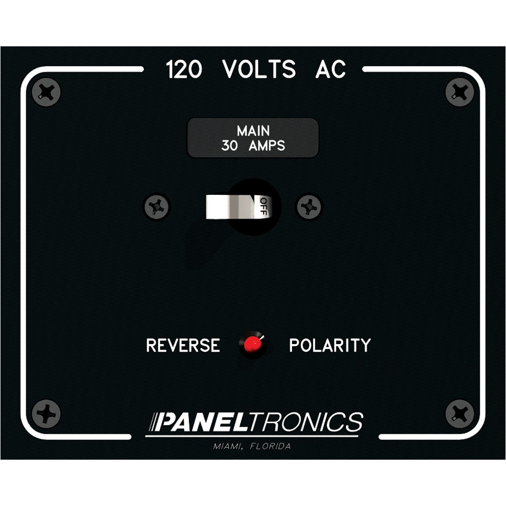 Paneltronics Standard Panel AC Main Double Pole w/30Amp CB & Reverse Polarity Indicator - 9982316B